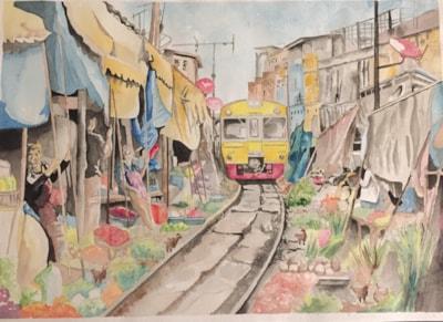 Meaklong Railway Market Thailand
