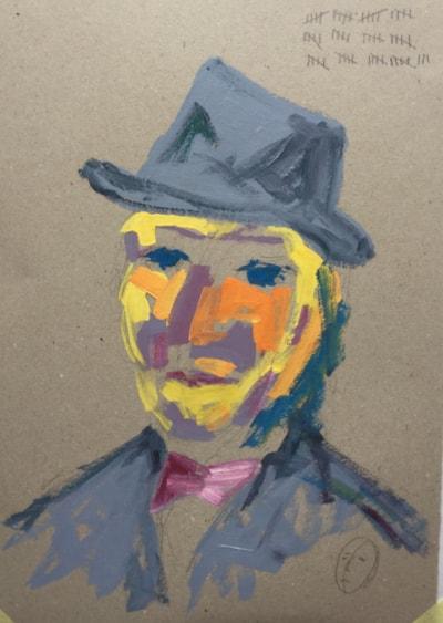 Gudrun's 60 brush stroke portrait