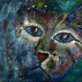 The blue cat.