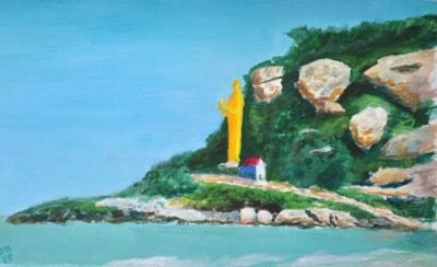Standing Buddha, Khao Takiab, Thailand