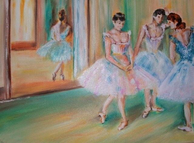 Impression of Degas - Dance Green Room
