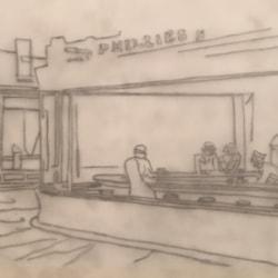 Nighthawks sketch