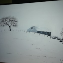 snow acrylic
