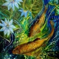 My Garden Pond -  Painted by my daughter Michelle.