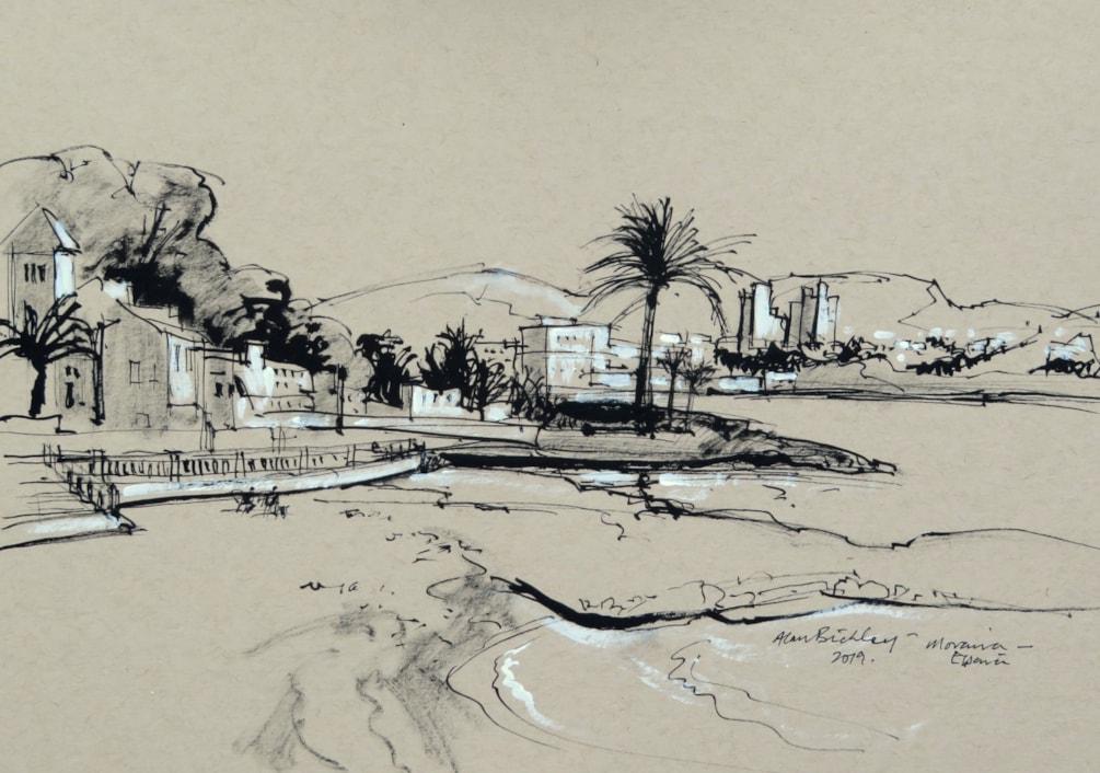 Moraira Beach (Costa Blanca) - Plein air sketch.