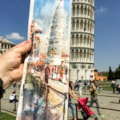 Leaning tower of Pisa, plein air watercolour