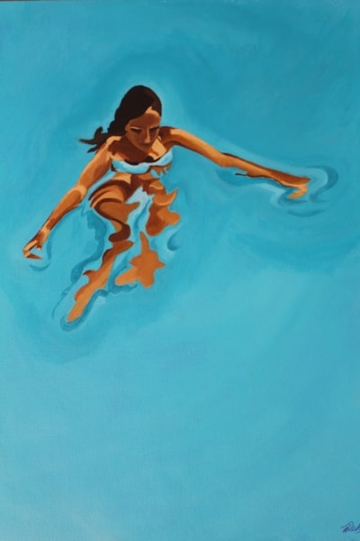 "Melusine. 2015. Acrylic on canvas 12x16"""