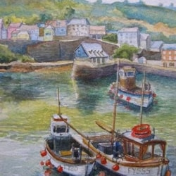 Sea harbour and fishing boats