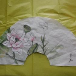 Gongbi lotus flower