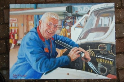 B&N Aircraft production foreman, Oil 70cmsX50cms