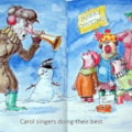 Carol Singers-A4 sketchbook-mixed media