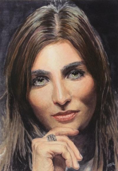 Roberta (Mona Lisa smile) (Watercolour)
