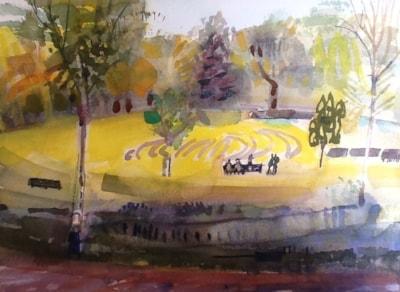 Schoolchildren in Hove Park