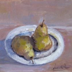 pere(pears)Leonetta Rossi painter cm.30 x 25