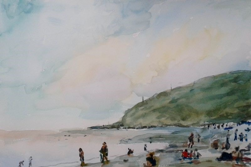 Beach at Tunstall easter