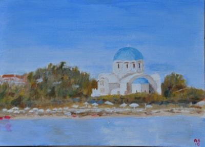 Skala Church, Agistri, from the jetty
