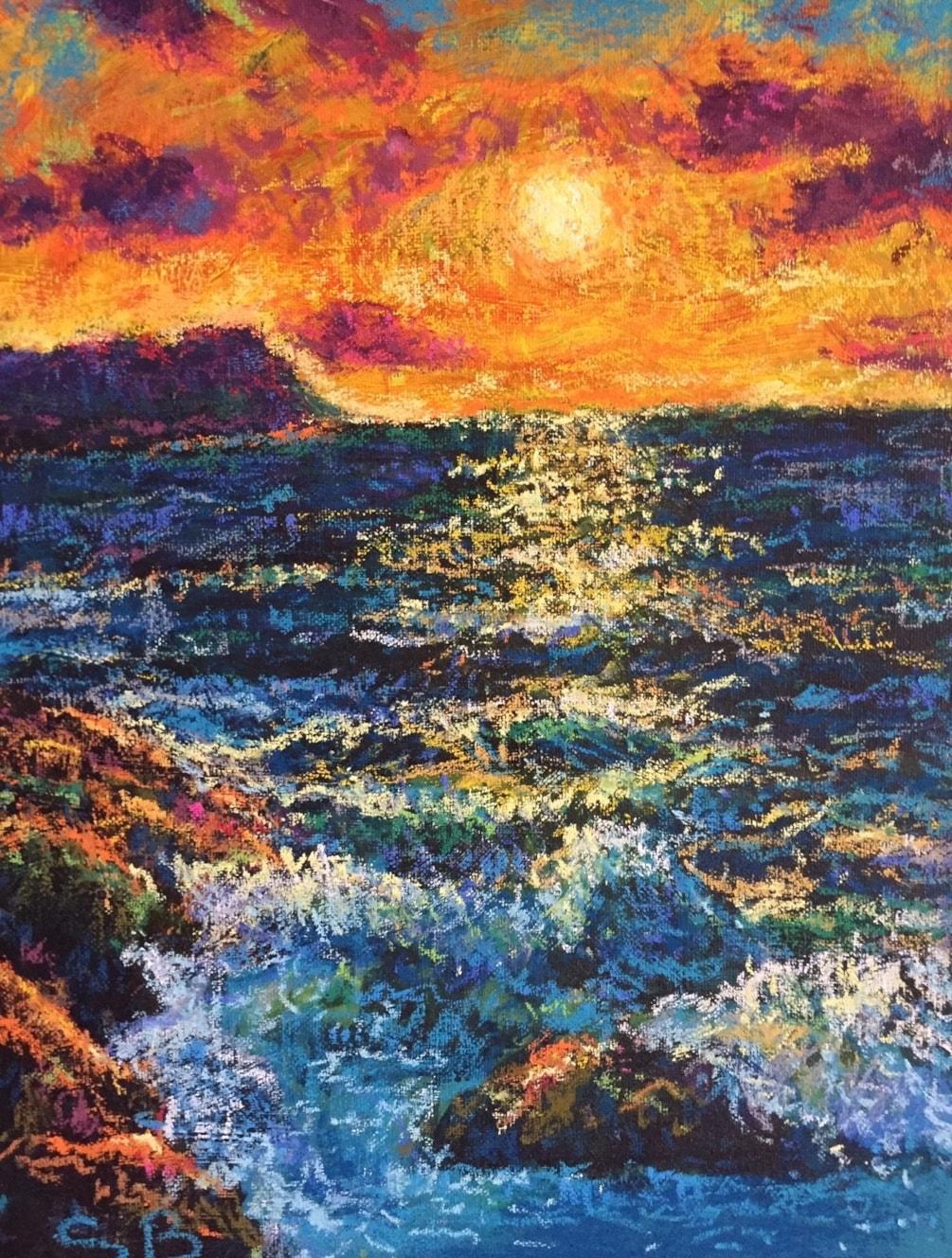 'Portland Dorset - Sunset - An Impression'