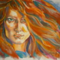 Flaming Locks - in watercolour & pastels