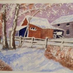 Winter farmstead