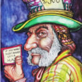 The not so Mad Hatter.  Inktense Pencils 8 x 6 inches 300gsm HP paper.