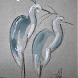 2 herons
