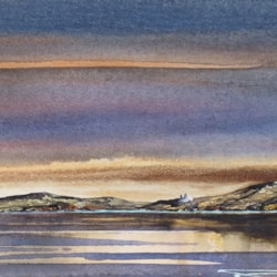 Last Light At Dalkey Island