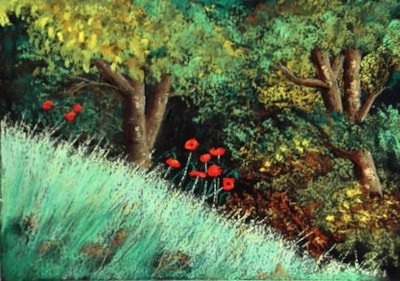 Poppies in Autumn
