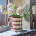 White Roses in Sunlight