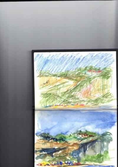 Lake beach, Sandown bay IOW, first sketches