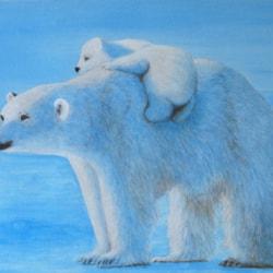 314 Polar Bear and Cub
