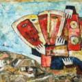 Love kiss oil painting Bogomolnik