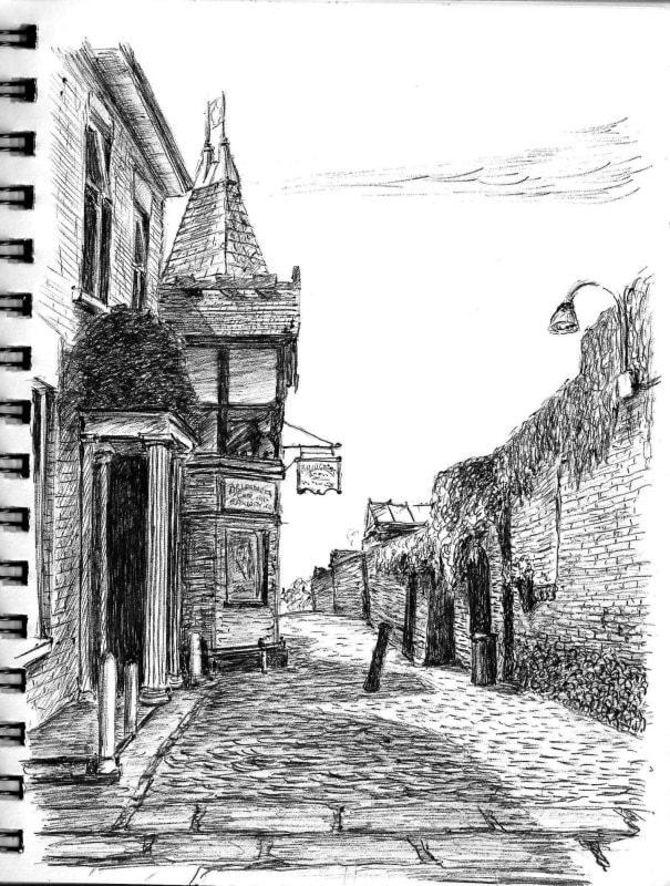 Funicular entrance castle walk Bridgenorth