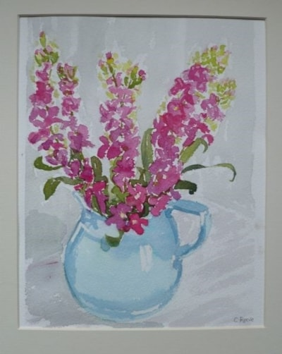 Pink Summer Stocks in a Blue Jug I