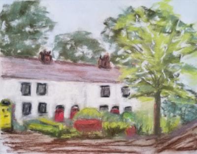 Lymm Cottages 2 (pastel experiment)