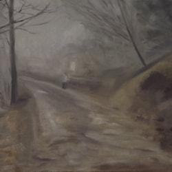 "Path towards ""Abe's Fountain""(Fog effect)"