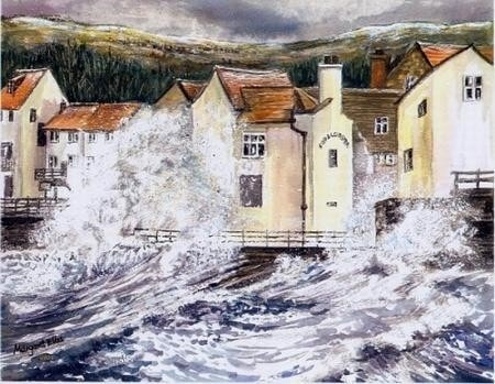 Winter Storm at Staithes