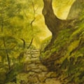 """""""Footpath to Ilkley Moor"""" -revisited Watercolour"""