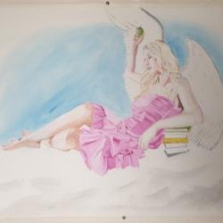 My Angel (oil on paper 75cm x 55cm