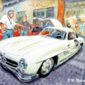 Mercedes Gullwing at Brescia, Mille Miglia