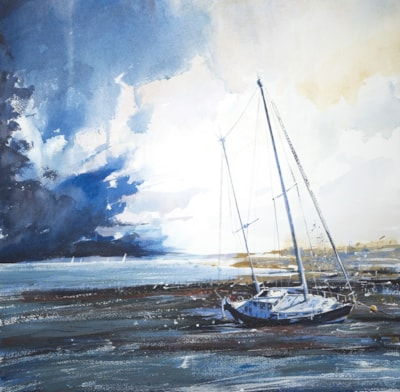 Bembridge Harbour Dry Yacht 50 x 50 cm