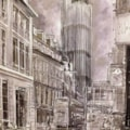 The NatWest Tower from Leadenhall Market, London