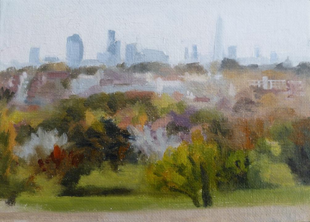 City of London skyline from Alexandra Palace