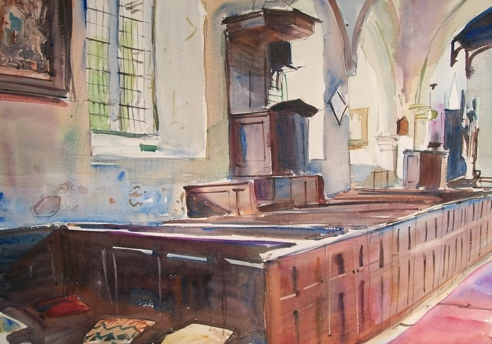 Oak Pulpit at Orton-on-the-Hill.