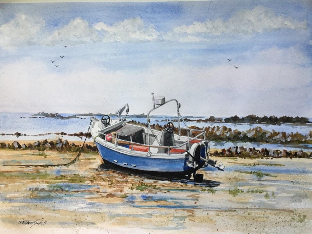 Low tide at Port Grat Guernsey
