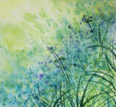 Garden Flowers, Purple Fields