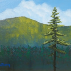 Acrylic Lesson 8 - Lonesome Tree