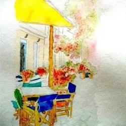 Greek Island cafe 2