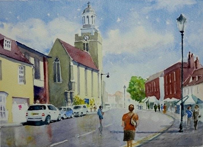 St Thomas's Church towards High Street Lymington  - Michael Trask