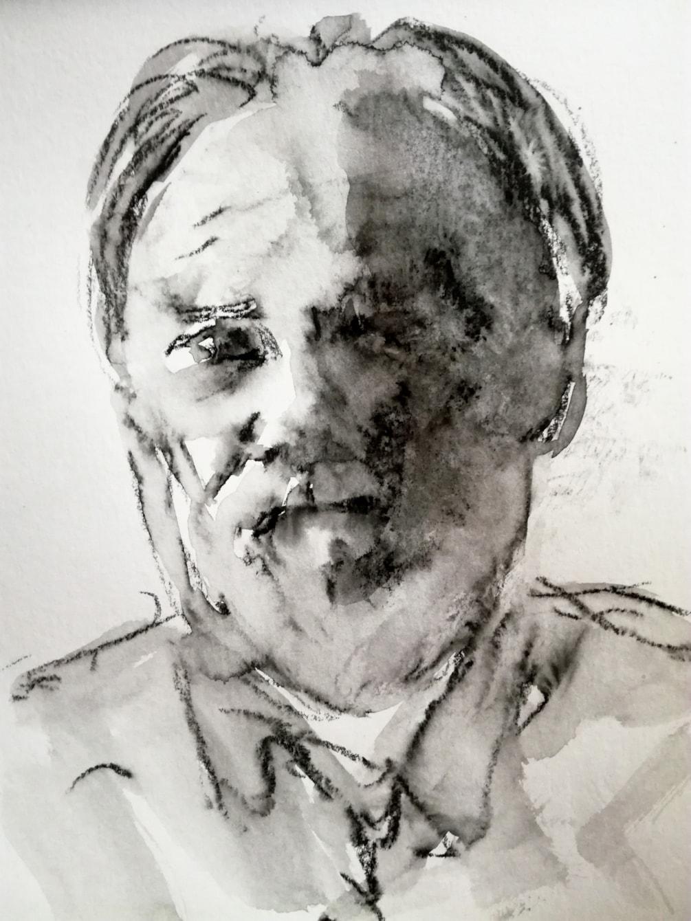 Self-portrait in shadow