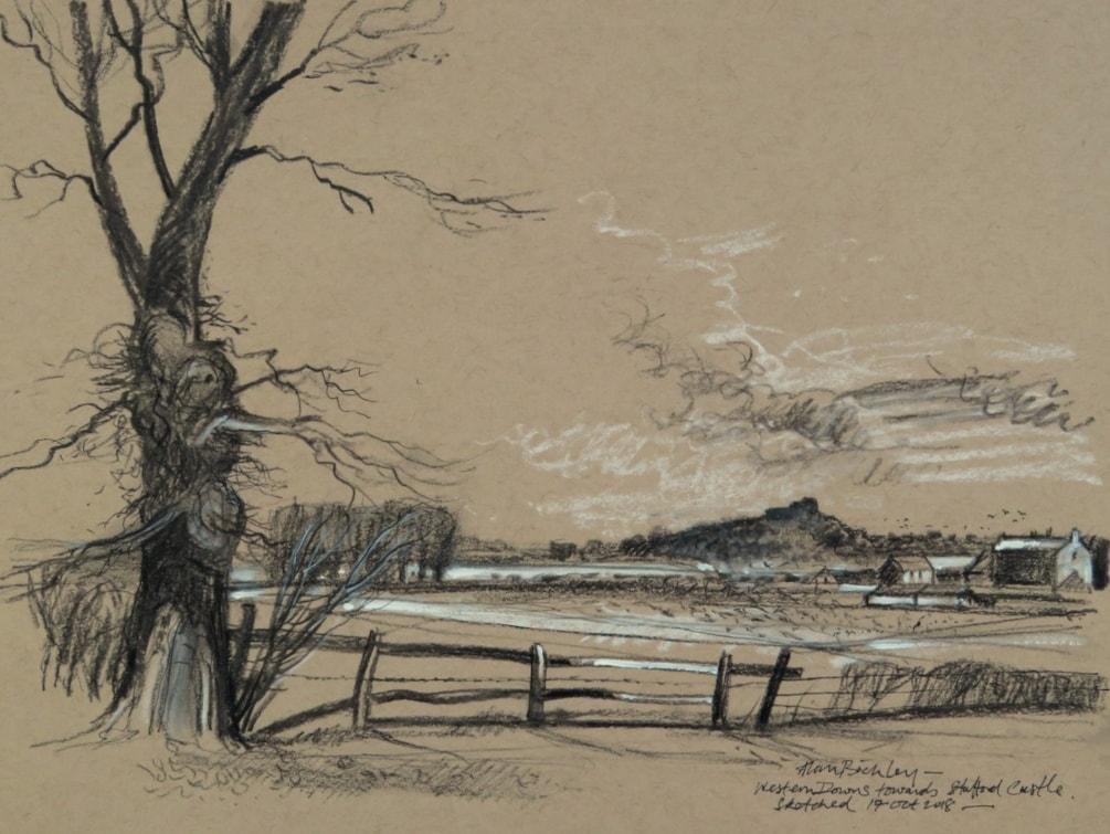 Western Downs towards Stafford Castle.